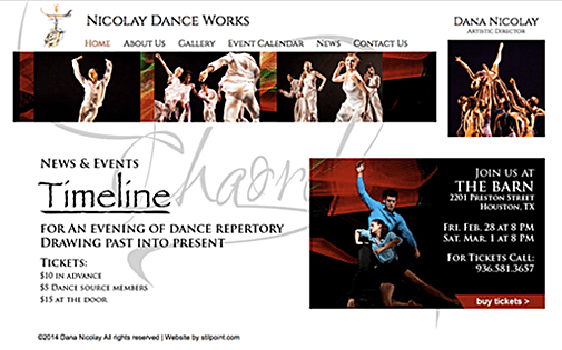 Dance Company website